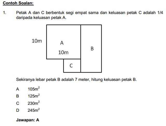 Contoh Soalan Matematik Peperiksaan Penguasa Kastam W41